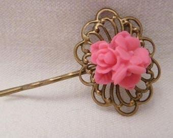 hair clip flower print