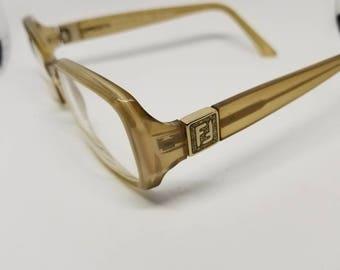 Vintage Fendi Clear Eyeglasses Frames Mod.F833