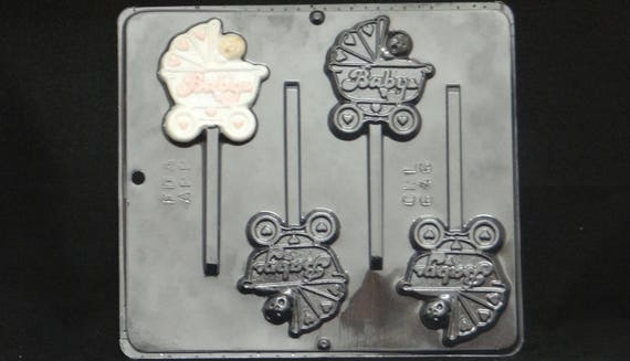Baby In Carriage Lollipop Chocolate Candy Mold Baby Shower 646 From  CandyMoldsNMore On Etsy Studio