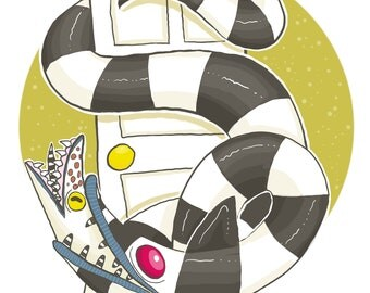 Sandworm (Beetlejuice) Print