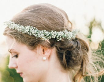 Dried Baby's Breath Flower Crown