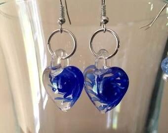 Earrings 008 - Glass Heart Earrings