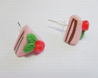 FANCY PIECES OF POLYMER CLAY CAKE EARRINGS