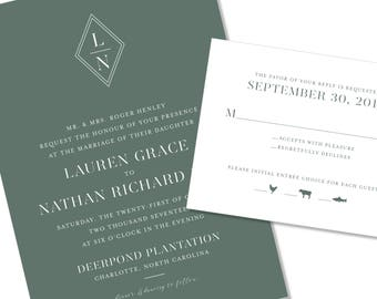 Modern and Geometric Wedding Invitation | Graphic and Bold Wedding Invitation | DIY Option Available | Invitation | RSVP | Info Card #1219