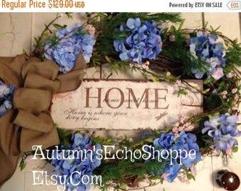 XL SPRING WREATH~ Rustic Door Wreath~ Over-Sized Door Decor~ FarmHouse Inspired Rustic Wreath~ Mother's Day Gift Idea~ Spring Door Wreath~