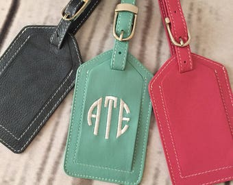 Monogrammed luggage tag, personalized luggage tag, bridesmaid gift