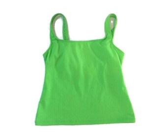 Vintage Green Tankini Swim Top