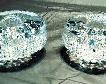 Two Iittala Candle Holders Mid Century Ultima Thule