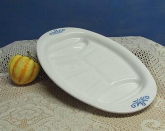 Corning Ware Cornflower Platter ~ Cornflower Platter ~ Mid-Century Kitchen ~ Corning Ware P-19 ~ Blue Flower