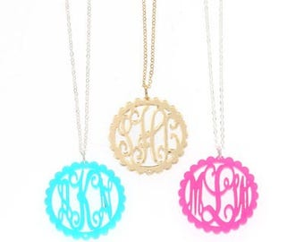 HeartStrings Acrylic Monogram Necklace