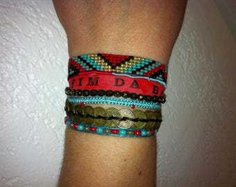 Brazilian Bahia band, unique Friendship, Cuff Bracelet