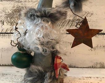 Little Grey Folkart Santa