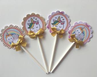 Unicorn Cupcake toppers/ Unicorn baby shower/ Unicorn
