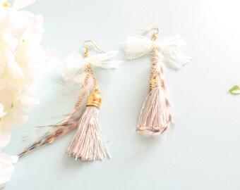"Geometric - ""Montiquan grey"" - elegant earrings"