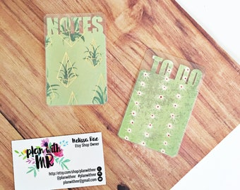 Planner Bookmarks // Notes, To Do // Succulents