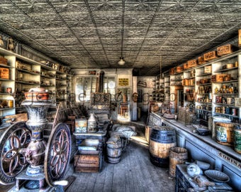 Bodie Merchantile, Ghost Town, Images, Photography, HDR, Aluminum, Canvas, Paper, Wood