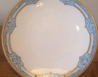Antique Jean Pouyat Limoges J.P.L. France Art Nouveau Plate