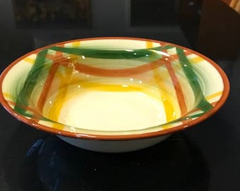 """Vintage Metlox VernonWare Homespun 8"""" Round Vegetable Serving Bowl"""