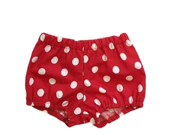 red & white polka dot bloomer shorts minnie mickey mouse disneyland