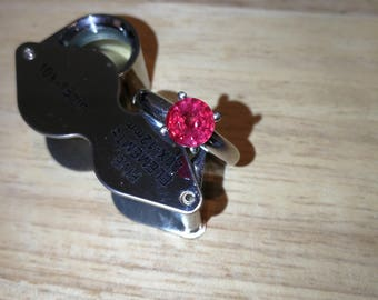 Ruby ring Sterling Silver 925 Ring Size N US Size 7. 8MM 5.62 CT ruby