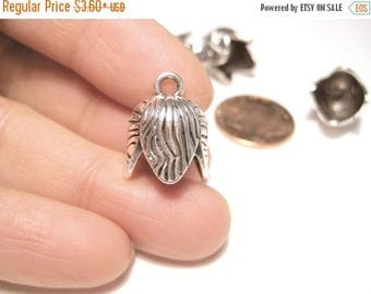 50% OFF Clearance Sale-- Antique Silver Cone Bead Caps Tassel Caps Kumihimo Caps