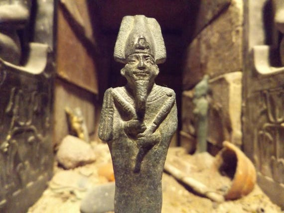 Osiris egyptian statue sculpture god of the afterlife