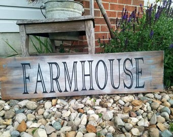 Wooden Farmhouse sign. 8x 36in farmhouse kitchen decor