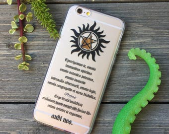 Supernatural Anti Possession iPhone Case ,Your choice of Soft Plastic (TPU) or Wood