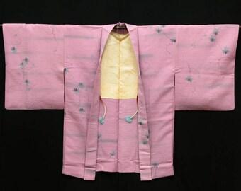Japanese Kimono / Vintage Silk Kimono Haori Jacket / Short Robe  / 060706