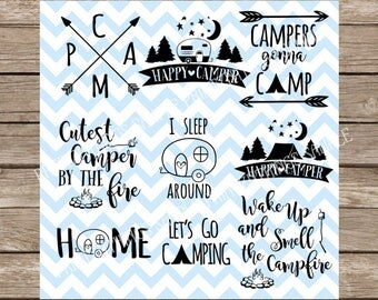 Camping svg, Camping, Camp, Camp svg, Camping SVG Pack, Summer svg, Summer, svg, svg files, Camper svg, Campfire svg, silhouette cameo, dxf