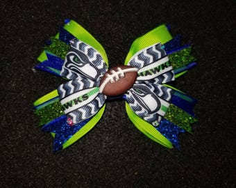 NFL Seattle Seahawks Hairbow