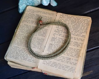 Double Wrap Hemp Bracelet. Custom Colours. Anklet. Men's Bracelet. Women's Bracelet. Hippie. Boho Jewelry. Natural Jewelry. Eco-Friendly.