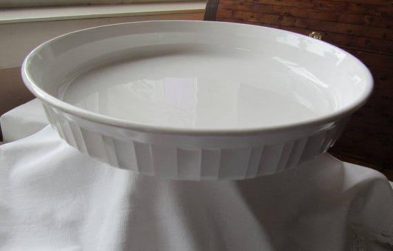 Corningware French White Quiche Dish 10 Inch Plate
