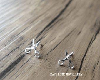 925 silver mini scissors stud earrings ear pierced lobe earrings 1 pair by East Link jewellery