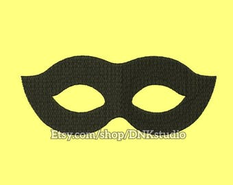 Masquerade Mask Machine Embroidery Design - 6 Sizes - INSTANT DOWNLOAD