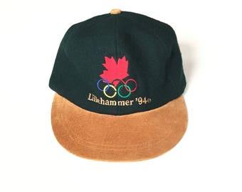 Vintage 1994 lillehammer olympics strapback snapback deadstock brand new strap back hat unisex adult