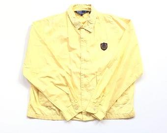 Vintage Ralph Lauren polo tennis full zip 80's 90's wind breaker jacket collared neck fastening