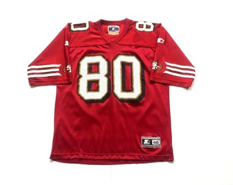 90s STARTER Jerry Rice San Francisco 49ers nfl football throwback jersey size Medium 46