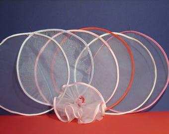 Organza Circles with Satin Edge, DIY Favors, Wedding favors, PKG of 25