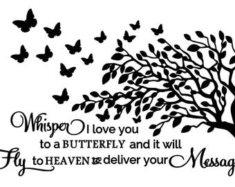Whisper I Love You to a Butterfly SVG File!