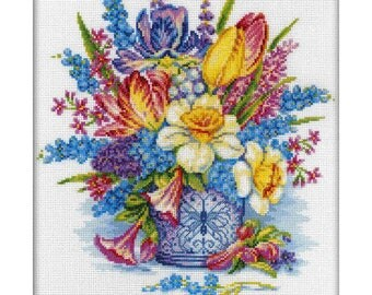 Flower imagination Cross Stitch Kit DIY Cross Stitch Set RTO Hand Embroidery Wall Decor Home decor Idea gift Punto de cruz Point de croix