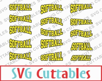 Softball SVG, DXF, EPS, Set of 30 Softball Layouts, Vector, Digital Cut File