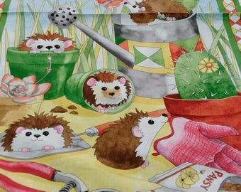 Who let's the dogs out panel cotton fabric by Quilting treasures