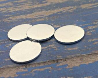 Aluminum 1 inch Round Stamping Blanks - 18G Aluminum