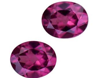 Purple Garnet Oval Cut Set of 2 Loose Gemstones 1A Quality 5x4mm TGW 0.80 cts.