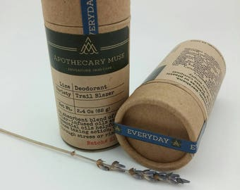 NEW SIZE - Deodorant Stick - Trail Blazer - Lavender, Sandalwood, EVERYDAY, Clay, No Aluminum, Sustainable Packaging - 2.4 oz
