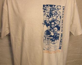 Size XL (49) ** 1980s Delta Blues Clarksdale, Mississippi Shirt (Single Sided) (Deadstock Unworn)