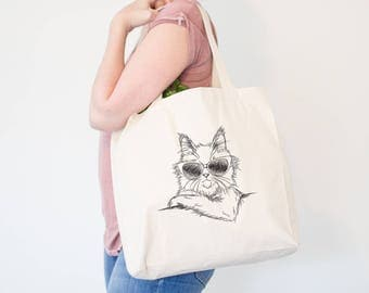 Ginger the Maine Coon Cat Canvas Tote Bag