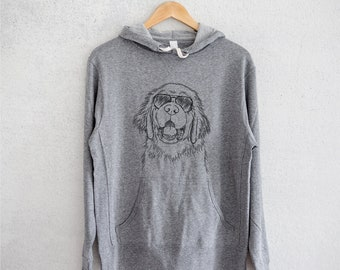 Mo the Newfoundland - Grey French Terry - Unisex Slim Fit - Dog Lover, Gifts for Dog Owner, Leonberger, Great Pyrenees