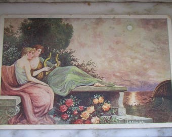 Vintage Postcard - Antique Sound or Ancient Chords by J.K. Romisch